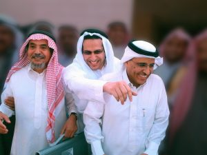 2018 Right Livelihood Award Laureates Abdullah Al-Hamid, Waleed Abu Al-Khair and Mohammad Fahad Al-Qahtani. Photo Credit: CC BY-SA 3.0/Ahmed al-Osaimi (Blurred from Original)