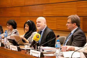 Michel Forst at the Human Rights Council Side Event. (Photo: Amy Au)