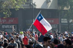 Protests in Santiogo, Chile, 2019. Credit: Carlos Figueroa [CC BY-SA 4.0 (https://creativecommons.org/licenses/by-sa/4.0)]